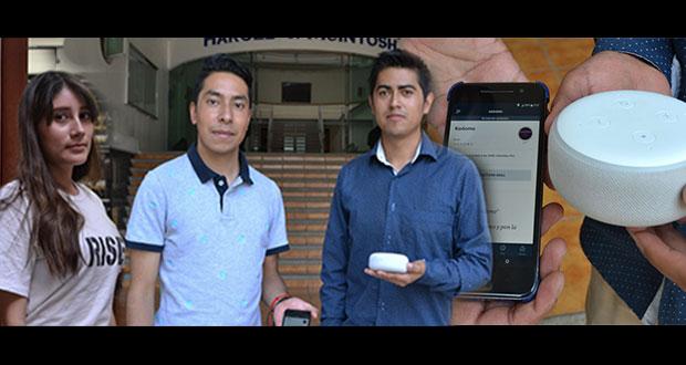 Estudiantes de BUAP crean asistente virtual para niños invidentes