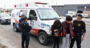 Golpean a presunto asaltante de transporte en la Puebla-Atlixco