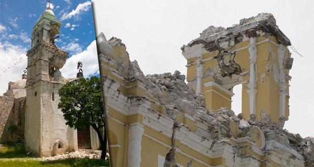 Iglesias y escuelas en la mixteca dañadas por sismo del S19, sin atender