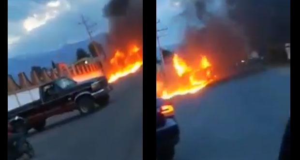Intentan linchar a sujeto en San Salvador El Verde y queman patrulla