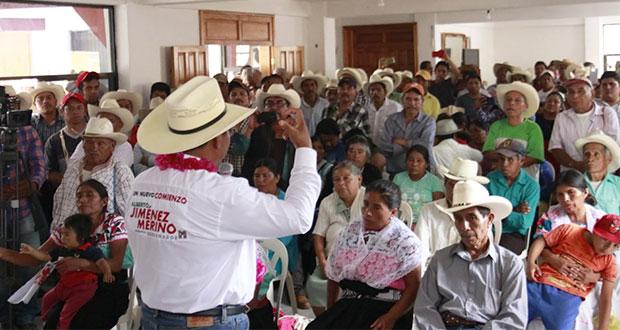 Jiménez plantea carreteras de Tlamanca a Cuautempan y Tepetzintla