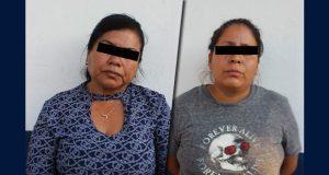 Detienen en la ciudad de Puebla a dos mujeres por robo en camión