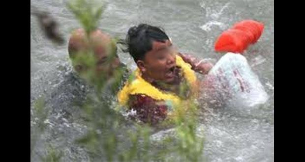 Patrulla Fronteriza salva de ahogarse a menor hondureño en Río Bravo