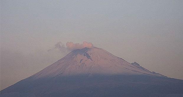 Popocatépetl registra 40 exhalaciones de vapor de agua, informa PC