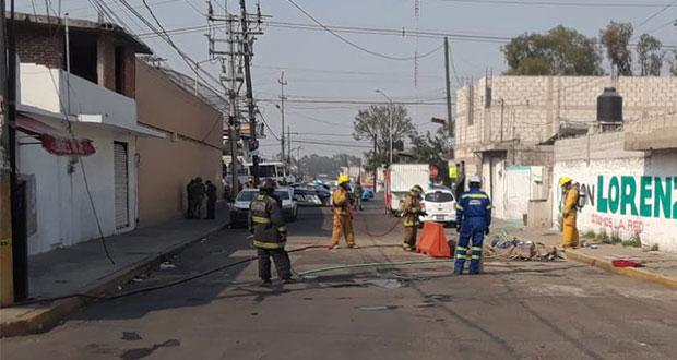 Protección Civil controla fuga de gas en colonia Joaquín Colombres