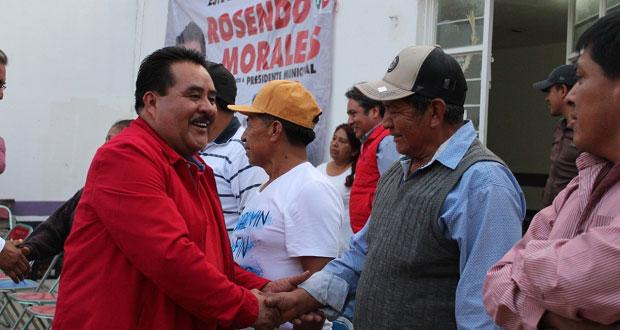 En Ocoyucan, Rosendo Morales ofrece mejorar servicios de salud
