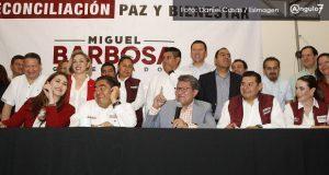 Senadores de Morena, PVEM y PT respaldan a Barbosa