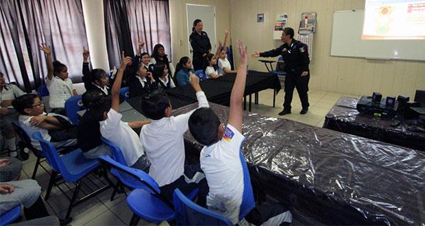 Ssptm de San Andrés Cholula imparte talleres de educación vial