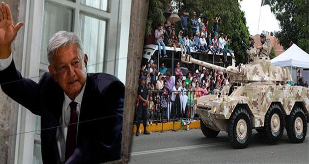 Por elecciones, AMLO no asistirá a desfile del 5 de mayo; vendrá Olga Sánchez
