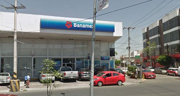 Continúan robando sucursales de Banamex en Puebla capital, ahora en El Mirador