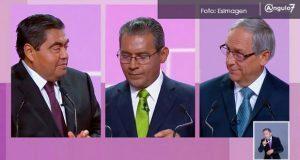 En debate por gubernatura, sobresalen más acusaciones que propuestas