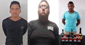 SSP detiene a tres hombres por robo, asalto y portación de arma