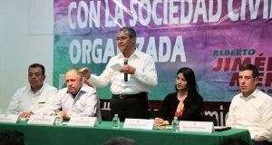 Crear dirección de vinculación con la sociedad civil, propone Jiménez