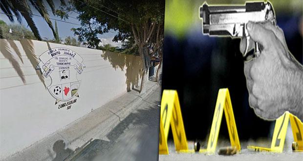 Balean a director en escuela y ejecutan a joven en su casa en Tehuacán. Foto: Especial
