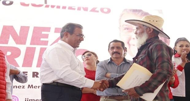 Jiménez Merino se compromete a conectar Tianguistenco y El Verde. Foto: Especial