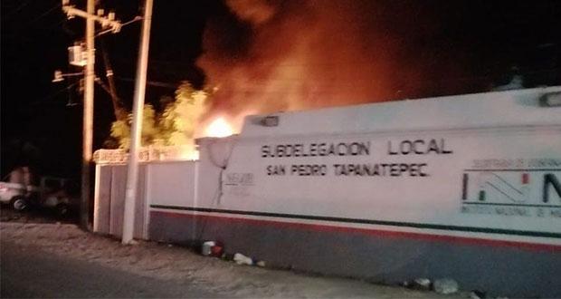 migrantes causan incendio en Oaxaca