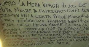 """Tras ejecución de """"El Azteca"""", ponen narcomanta advirtiendo limpia en Atlixco"""