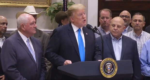 "Pelosi es un ""desastre"" por no entender el T-MEC, afirma Trump"
