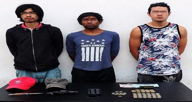 Detienen a banda dedica al robo a transporte público en Puebla