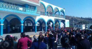 Por cercanía con Popocatépetl, realizan simulacro en Xalintzintla