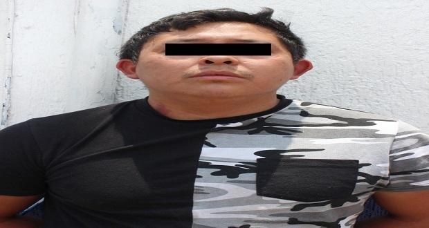 Detienen a sujeto por secuestro y robo de gas LP en Puebla capital. Foto: Especial