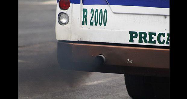 Retiran de circulación a transporte público que contamina
