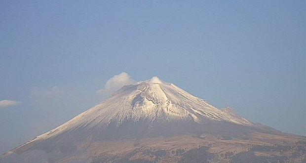 Popocatépetl registra 51 exhalaciones de agua y gas, reporta PC