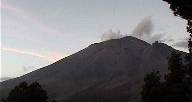 Actividad de Popocatépetl, dentro de alerta amarillo fase dos: PC