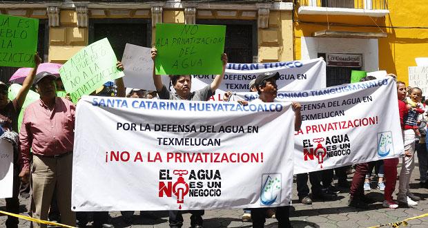 Acusan en Congreso que edil de San Martín busca privatizar agua