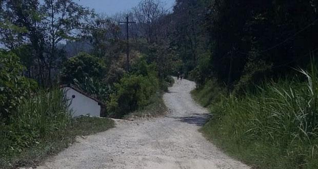 Antorcha pide rehabilitación de carreteras en la Sierra Norte