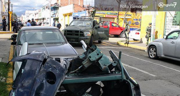 Aplican operativo en locales de 46 Poniente para asegurar autopartes robadas