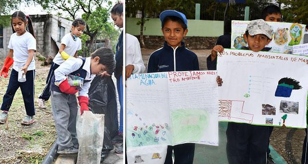 Ayuntamiento de Ahuatempan realiza faena en San Juan Nepomuceno