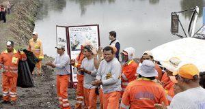 Ayuntamiento de Puebla supervisa limpieza en el Puente Negro