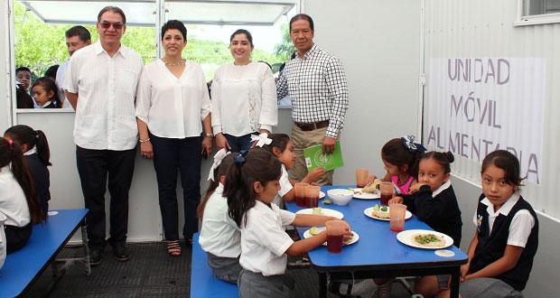 Bienestar reactiva unidades móviles alimentarias para Puebla