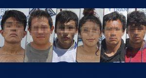 Caen siete probables asaltantes en Puebla; uno tenía antecedentes