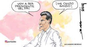 Caricatura: Con aspiraciones 4T, priísta quiere el CEN