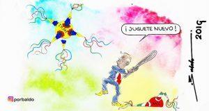 Caricatura: Irán, juguete nuevo de Trump