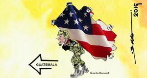 Caricatura: La Guardia Nacional alista bloqueo contra Guatemala