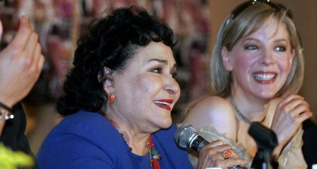 "Carmen Salinas llora muerte de Edith González, su ""mejor Aventurera"""