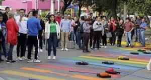 Ayuntamiento de Puebla inaugura paso peatonal incluyente