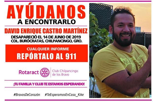 Reportan desaparición de joven en Guerrero y piden activar protocolos