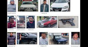 Detienen a 9 personas y aseguran 7 vehículos en diez municipios
