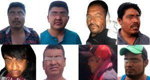 Detienen a ocho por robo y narcomenudeo en tres municipios de Puebla