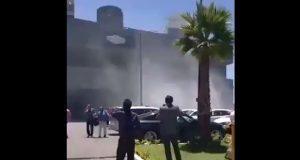 Evacuan torre Natyvo por incendio en plaza Aventura