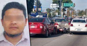 FGE detiene en la 11 Sur a presunto responsable de robo de auto