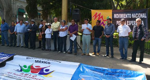 Frente en Defensa del Agua va por desprivatización en Puebla. Foto: Especial