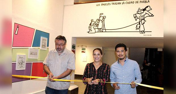 Inauguran exposición de cómics sobre Puebla en Teatro de la Ciudad
