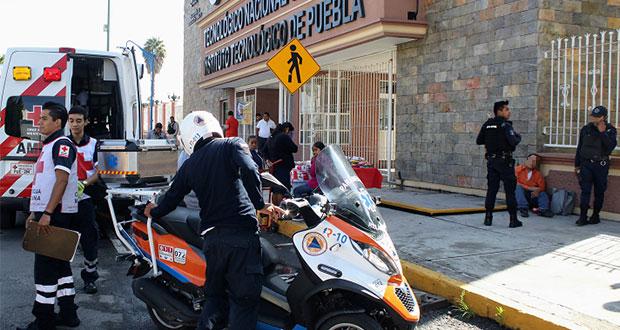 Intentan secuestrar a hombre frente al Tecnológico de Puebla