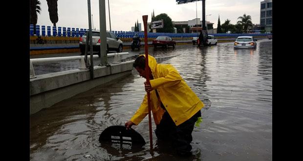 Lluvias en Puebla dejan inundaciones, árboles caídos y un desaparecido