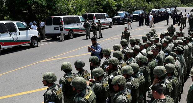 Militares refuerzan seguridad en frontera sur ante migración